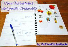 Bildwörterbuch: selbstgemachte Schreiblernhilfe - Ostseeraeuberbande Familienblog