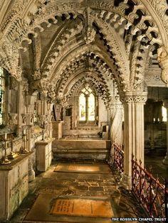 rosslyn chapel scotland | ... Rosslyn Chapel showing complex carvings (Photo: The Rosslyn Chapel