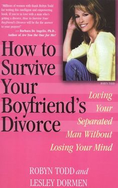 Former military spouses - http://www.formermilitaryspouse.com Tips for dating a divorced boyfriend: How to Survive Your Boyfriend's Divorce: Loving Your Separated Man without Losing Your Mind Robyn Todd, Lesley Dormen $11.72  - http://www.ebooknetworking.net/books_detail-0871319225.html