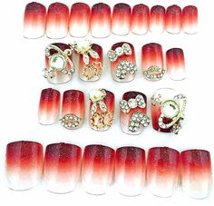 Fashion Japanese 2D / 3D Nail Art Achiote Love 24 Nails Sold By Fattycat *** This is an Amazon Affiliate link. Be sure to check out this awesome product.