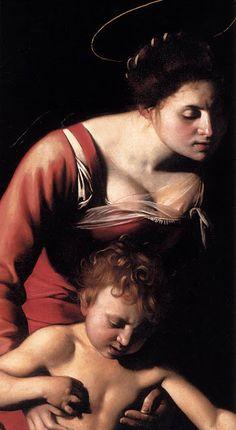 La virgen de los Palafreneros. Detalle. Caravaggio