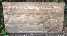 Size 16.5x31 includes string and 10 clips Photo Boards, Picture Hangers, Family Signs, Never, Size 16, Life
