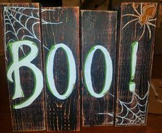 Custom Sign Pallet Wood Sign boo Halloween by SweetTeaNSunshine, $60.00