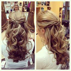 Wedding hair, bridal hair, wedding, Bride, hair by Ashley Spadano, half up half down