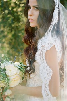 Elegant Mantilla Veil | photography by http://beauxartsphotographie.com/