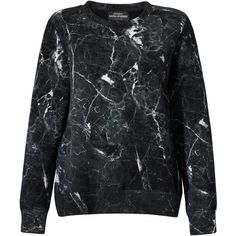 Mariusz Przybylski Black Marble Cotton Sweatshirt ($103) ❤ liked on Polyvore featuring tops, hoodies, sweatshirts, black, side zipper sweatshirt, marble print top, cotton sweatshirt, urban sweatshirts and side zip sweatshirt