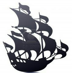 Old Sailing Pirate Ship Template/Stencil/ Mural. 123RF.com