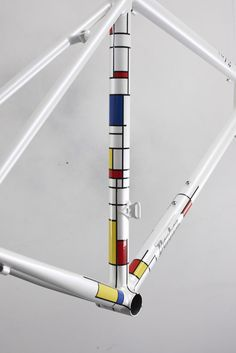 Fresh from the spray booth, a Donhou Bicycles Mondrian