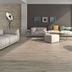 If your home is looking a little lifeless, revive it by introducing some striking, stylish wood effect tiles into those interiors! TheseIpe Wood Effect Tiles have a realistic wood effect design; alive with woodgrain and knots. Wood Effect Tiles, Ipe Wood, Wood Grain, Plank, Couch, Flooring, Living Room, Knots, Furniture