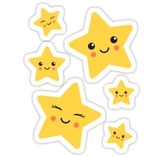 'Cute kawaii stars sticker collection' Sticker by MheaDesign Cute kawaii star sticker collection Tumblr Stickers, Star Stickers, Cute Stickers, Theme Mickey, Star Clipart, Vip Kid, Arts And Crafts, Paper Crafts, Kawaii Doodles