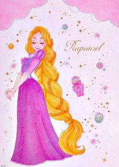 the disney princess Disney Princess Rapunzel, Tangled Rapunzel, Disney Tangled, Tiana, Disney Princesses, Pocket Princesses, Disney Nerd, Disney Fan Art, Walt Disney