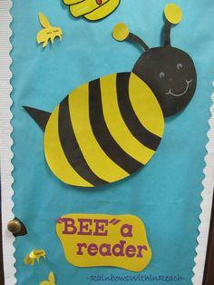 """Classroom Door Decoration: """"Bee"""" a Reader"""