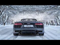 V10 droptop in Winter Wonderland! - 2017 Audi R8 V10 Spyder (5.2 V10 NA, 540hp) - YouTube
