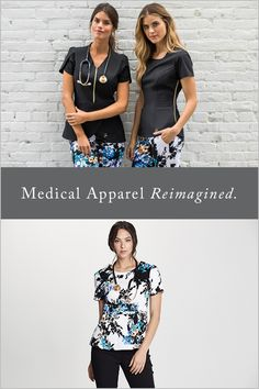 Finally a uniform that makes you feel like the individual that you are. Embrace the comfort of TENCEL-based antimicrobial finished scrubs combined with the style of the runway. Save on your first order with at checkout Receptionist Outfit, Jaanuu Scrubs, Scrubs Outfit, Medical Uniforms, Nursing Clothes, Costume, Womens Fashion For Work, Work Attire, Eco Friendly
