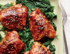 Teriyaki Chicken.  Yummy and healthy! with brown rice and broccoli