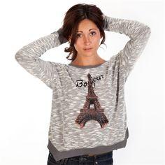 Jessica Simpson Juniors Charisse Bonjour Sweater   from Von Maur #VonMaur #FallFashion