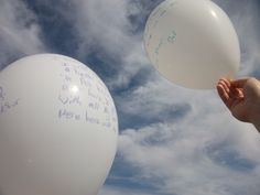 Day 16 - Releasing of the due date balloons. Hard day, mixed emotions all around.