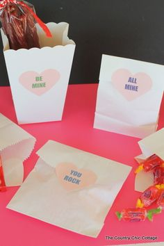Free Printable Conversation Hearts are the perfect way to add that little something extra to your treat bags or cards.