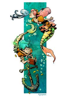little steampunk mermaids by BrianKesinger.deviantart.com on @deviantART http://briankesinger.deviantart.com/