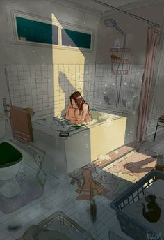 Find images and videos about girl, art and illustration on We Heart It - the app to get lost in what you love. Pretty Art, Cute Art, Aesthetic Art, Aesthetic Anime, Sad Art, Art Inspo, Amazing Art, Character Art, Concept Art