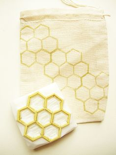 beehive rubber stamp. hand carved rubber stamp. honey comb. hexagon pattern $12 from Talk to the Sun on Etsy