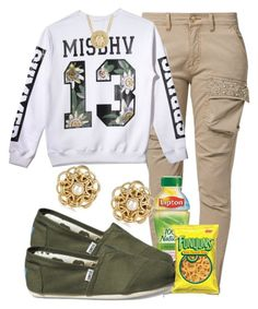 """MISBHV"" by cheerstostyle ❤ liked on Polyvore featuring Relish, Misbehave, MANGO, TOMS, MeDusa and River Island"