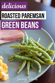 This delicious recipe for Roasted Parmesan Green Beans makes for a perfect appetizer or side dish at any Easter or Thanksgiving gathering. It's also simple enough to have anytime, not just on a special occasion! Potluck Side Dishes, Best Side Dishes, Side Dish Recipes, Cheap Meals, Cheap Recipes, Easy Recipes, Delicious Dinner Recipes, Appetizer Recipes, Crockpot Recipes