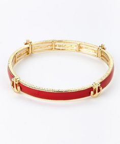 Look what I found on #zulily! Red Anchor Station Stretch Bracelet by Love, Kuza #zulilyfinds