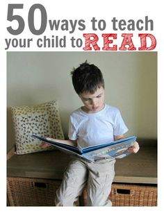 50 everyday ways to help your child learn to read. Links to more detailed resources too .