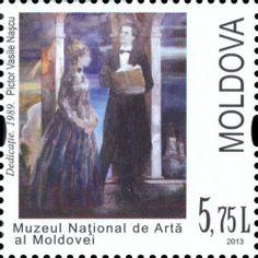 "Painting ""Dedicaţie"" by Vasile Naşcu. National Museum of Art of Moldova. Moldova, National Museum, Art Museum, Beautiful Places, Stamps, Romantic, Album, Painting, Seals"