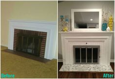 retiling a fireplace | and a HUGE thank you to The Tile Shop for making this project ...