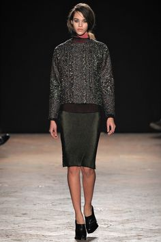 Marco de Vincenzo Fall 2013 Ready-to-Wear Fashion Show - Pauline Hoarau