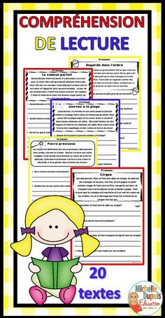 Comprehension Exercises, Comprehension Activities, Reading Comprehension, Core French, French Class, French Lessons, Teaching French Immersion, French Teaching Resources, Teaching Ideas