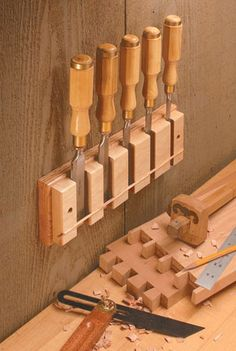 Workshop storage plans, including shop cabinets and shelves, tool chests and stands, benchtop organizers, and more. Workshop Storage, Workshop Organization, Garage Workshop, Tool Storage, Storage Organization, Beginner Woodworking Projects, Woodworking Workshop, Woodworking Tips, Woodworking Machinery