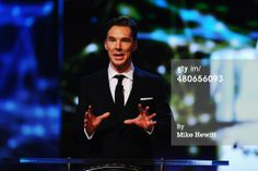 News Photo: Host Benedict Cumberbatch speaks during the 2014 Laureus…