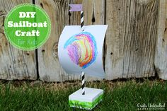 Boat Craft For Kids: DIY Jewelry Box Sailboats, inexpensive and easy, full tutorial!