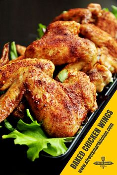 Mouthwatering baked chicken wings with savory crispy skin that locks in a smoky cumin flavor and much more. It only takes 10 minutes of hands-on time. Oven Baked Whole Chicken, Fried Chicken, Crispy Baked Chicken Wings, Taco Chicken, Butter Chicken, Kitchen Recipes, Cooking Recipes, Kitchen Hacks, Diner Recipes