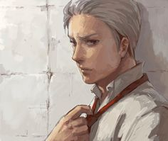 prussia with his hair styled like Germany
