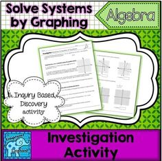 In this inquiry based, discovery activity students graph two lines and then answer questions about solutions to equations and points on the lines of the equations.