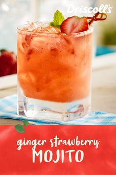 Combine fresh strawberries and spicy ginger to make this unique and refreshing take on a mojito, the traditional Cuban cocktail. The sweetness of the berries and slight heat from the ginger mix perfectly with the fresh mint and lime. Fresh Mint, The Fresh, Strawberry Mojito, Spiced Rum, Beverages, Drinks, Ginger Ale, Making Memories, Cuban
