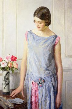 """""""Yes or No"""" by William Henry Margetson"""