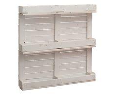 Mobile buffet a due ante in legno stile country laccato bianco con ...