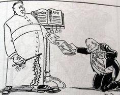 Abril Sánchez. Para mi esta imagen representa al conservadurismo, porque ellos querían que la iglesia tuviera el máximo poder, y en la iglesia la iglesia demuestra más autoridad que le gobierno.