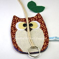 Sewing Owl Key Chain Holder Tutorial