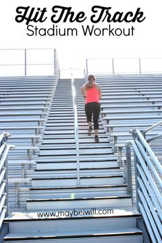 Hit The Track Stadium Workout! This is a crazy good workout! You'll torque a ton of calories! #PushFurther #ad #FitFluential