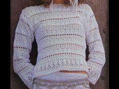 Tutorial Sweater- saco a crochet muy fácil/ punto bloques - YouTube