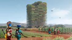 The Mashambas tower won the eVolo skyscraper competition. Designed by Pawel Lipiński and Mateusz Frankowski, the tower would serve as a farm and school. Architecture Magazines, Architecture Student, Arch Architecture, Education Architecture, Futuristic Architecture, Amazing Architecture, Agriculture Verticale, Ville Durable, Zone Rurale