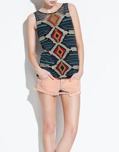 EMBROIDERED GAUZE TOP - TRF - New this week - ZARA United States