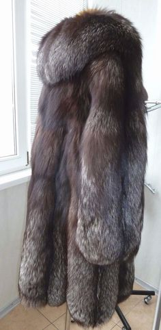 FUR COAT SILVER FOX SWINGER scientific name - SILVER FOX size12-14 #Unbranded #OtherCoats #Casual