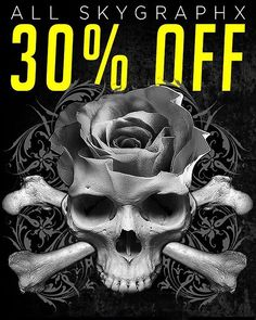 It's official! All of the badass tee's from Skygraphx are now 30% just for you. Yes you! Click the link in the bio to head to the Inked Shop. #inkedshop #inked #skygraphx #sitewidesale #clothingsale